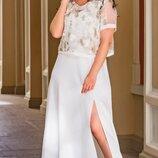 Нарядное платье топ батал, К-59839-841, размеры 50,52,54.