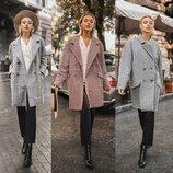 Свободные Стильные Демисезонные пальто Oversize в 3 расцветках