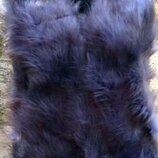 Жилетка меховая серая, на 11-16 лет