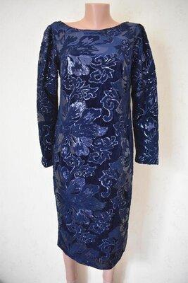 Шикарное велюровое платье в пайетки Monsoon