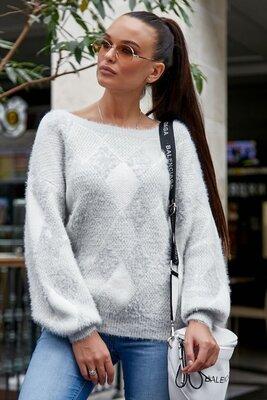 Вязаный стильный свитер 8899
