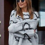 Теплый стильный свитер до 52 размера 1968.