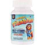 Vitables, жевательные витамины с пробиотиками, ферментами для детей, 60 шт.