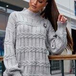 Вязаный стильный свитер S506.