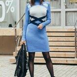 Тёплое платье 44-46-48-50 размеры 3 цвета