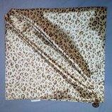 Косынка атласная Леопардовая платок шелковый с подвесками.