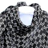 Косынка атласная Gucci платок шелковый с подвесками. Черная