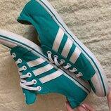 Яркие мятные кеды Adidas, оригинал, р-р 39