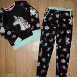 теплая пижамка 8-9 лет