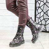 Код 6147 Демисезонные ботинки Натуральная кожа Внутри байка Высота подошвы 3.5/2 см Высота изделия 1