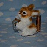 Красивый качественный меховый кролик зайкас подарочком