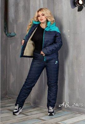 Наложка. Зимний женский прогулочный костюм на синтепоне куртка с овчиной 48 50 52 54