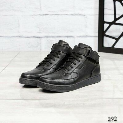 Код 292 Мужские высокие кроссовки Натуральная кожа Внутри текстиль на поролоновой основе Высота подо