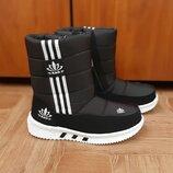 Детские зимние сапоги дутики ботинки сапожки унисекс для мальчиков для девочек теплые