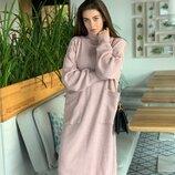 Женское вязаное платье свободного кроя ос 21