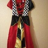 Платье карнавальное Алиса в стране чудес королева дама червей 9-10 лет р.140