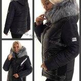 44-52, Зимняя куртка с капюшоном. женский пуховик. Молодежная куртка. Жіноча зимова куртка