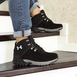 Зимние мужские ботинки Under Armour черные 8536
