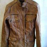куртка ZARA мягкая натуральная кожа