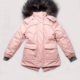 Куртка парка зимняя для девочки / пудра