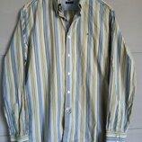 Брендовая мужская рубашка. рубашка в полоску. полосатая рубашка. томи хилфигер