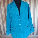 Замечательный яркий вельветовый пиджак, большого размера