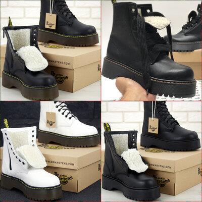Женские Зимние ботинки Dr.Martens JADON кожа, мех