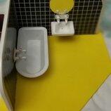 Ванная комната игра с водой Гдр, винтаж. Домик