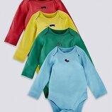 Боди для новорожденных с длинным рукавом Marks&Spencer. Акция