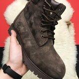 LUX Зимние ботинки Timberland Тимберленд, мех, мужские р. 41-45, CDF22TB