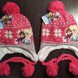 Детская шапка зима Дисней Анна и Эльза Минни Маус