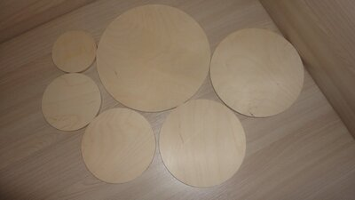Заготовка круглая для декора 8 - 20 см