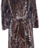 натуральная норка Kundert Glarus шуба халат очень теплая и не тяжелая в идеальном состоянии застегив