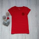 12-13 лет Красная футболка с цветком Matalan