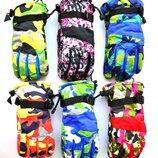 Подростковые лыжные перчатки на флисе - длина 23-24 см