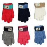 Детские шерстяные перчатки унисекс - длина 13 см