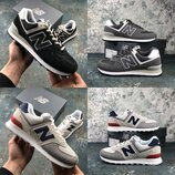 New Balance 574, Оригинал - LUX, замшевые мужские кроссовки, р. 40,5-47,5, INFML574