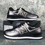 New Balance 574, Оригинал, LUX качество, кожаные женские кроссовки, р. 36-41,5, INFWl574WNF