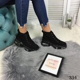 Высокие демисезонные кроссовки на шнуровке