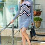 Тёплое платье 44-46-48-50 размеры 5 расцветок