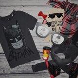 9 лет 134 см крутая фирменная футболочка футболка Бэтмен Batman бетмен