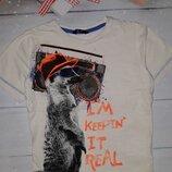 Стильная футболка на 4-6 лет
