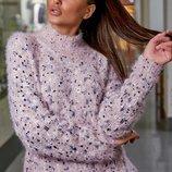 Стильный модный теплый свитер S328