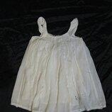10-12 лет, белая блузка-туничка Zara