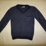 Фирменный теплый шерстяной свитер на мальчика р. 116-122