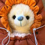 Зимний кокон-конверт в коляску и санки