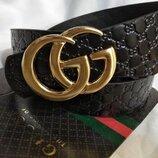 Ремень кожаный Gucci, Гуччи реплика, унисекс