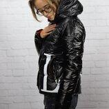 Стильная куртка теплая черная
