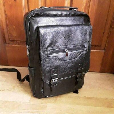 Мужской рюкзак городской черный большой классический чоловічий великий