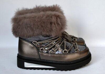 Зимние ботинки луноходы угги ugg тм солнце р 26-37